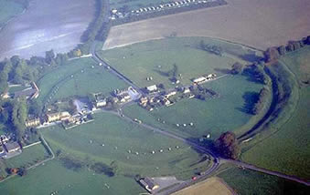Avebury stone circle from the air